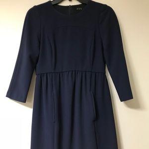 Zara Dress in Navy Blue